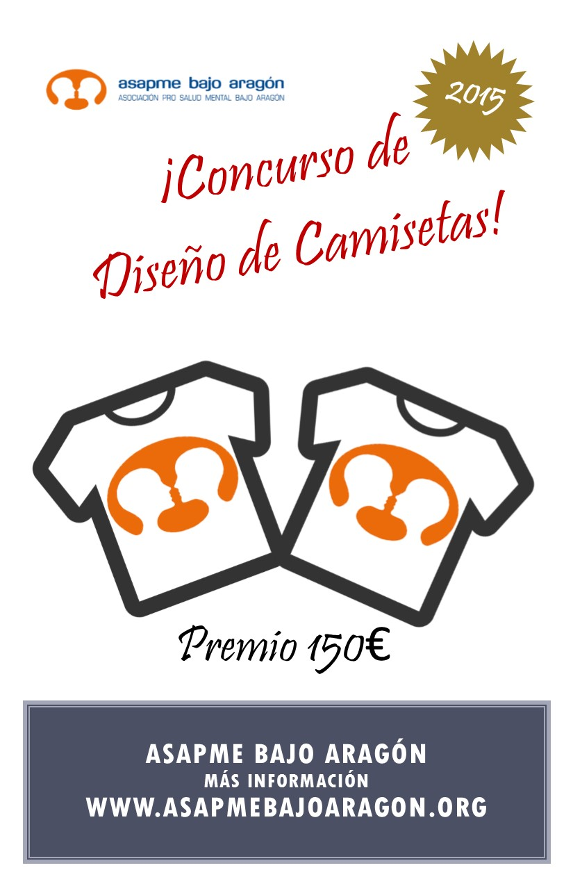 Concurso de diseño de camisetas Asapme Bajo Aragón 2015