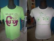 Diseño ganador y accesit del concurso de diseño de camisetas ASAPME Bajo Aragón 2015