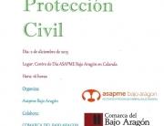 Charla sobre protección civil en el centro de día de Calanda de ASAPME Bajo Aragón.